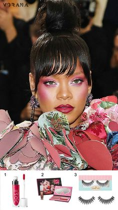 1.Dose of Colors – Lip Gloss: Burning Love 2.Sugarpill – Feline Fancy Makeup Collection 3.House of Lashes – Bombshell #DoseOfColors #Sugarpill #HouseOfLashes #Rihanna #MetGala