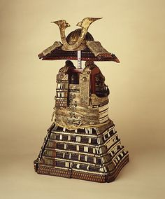 Armor (Yoroi). Japanese. Early 14th Century. Lacquered iron and leather, silk, stenciled leather, gilt copper.