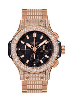 Big Bang Gold Bracelet Pavé 44mm Chronograph watch from Hublot