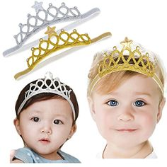 DANMY Baby Girl Rhinestone Crown Headbands Toddler Princess Headband Hair Accessories ** Find out more about the great product at the image link. (This is an affiliate link and I receive a commission for the sales) Baby Crown Headband, Hairband, Elastic Headbands, Baby Headbands, Newborn Hair Bows, Baby Hair Bands, Baby Princess, Princess Party, Toddler Hair