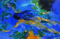 """""""Ultramar"""", 1995. Concepción Balmes Abstract Paintings, Abstract Art, Fish, Pets, Animals, Dibujo, Shells, Artists, Animaux"""