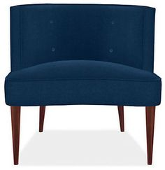 Chloe Chair, Vance Fabric, Indigo - contemporary - chairs - Room & Board