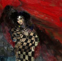 """Saatchi Online Artist: Suhair Sibai; Paint, 2011, Mixed Media """"Only the Lonely"""""""