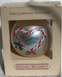 Lot of 2 Hallmark Our First Christmas /& Our Christmas Together  2016 Ornament