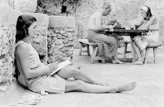 Jackie reading in Italy