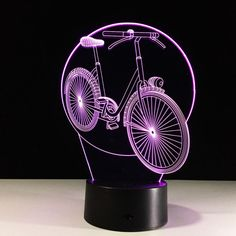 3D Novelty Cool  Bicycle Model Table Lamp LED Night Lights Bedroom Small Desk Lamp colorful atmosphere lamp #Affiliate
