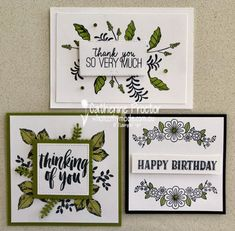 Art With Heart Creative Showcase: Monochromatic Cards - What Cathy Made