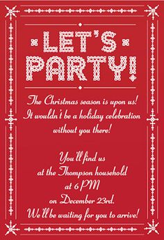 "Downloadable Christmas Party Invitations Templates Free Delectable Ivory On Ebony"" Printable Invitation Templatecustomize Add Text ."