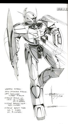 ⚒ — Syd Mead Concept Art for Turn A Gundam