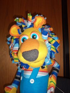 Striped Lion by PJs Puppets