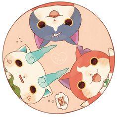 komasan, jibanyan y fuyunyan Little Girl Cartoon, Little Girls, Skagen Watches, Youkai Watch, Armani Watches, Beagle, Watches For Men, Pokemon, Anime