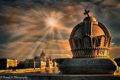 Sun shining on the Parliament and one of the decorative crowns on Margaret Bridge. Hdr Photography, Amazing Photography, Capital Of Hungary, Heart Of Europe, Danube River, Beautiful Places In The World, Central Europe, Countries Of The World, Homeland