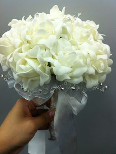 Champagne Foam Roses Bouquet, just pretty!