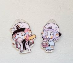 Smol 100% hand made charms ☄ Made from shrink film and painted with acrylics. Quizas lleve estos 2 cositos a Minami Con