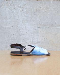 Rachel Comey Kiefer Sandal in Bleached Denim