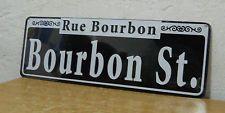 """New Orleans - Bourbon Street Street Sign  New   5"""" x  15""""  """" Rue Bourbon """""""