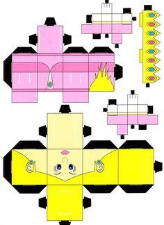 Peach Cubeecraft by paperart.deviantart.com on @deviantART