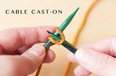 Cable Cast-on: Stymied by slipknots? Confused by casting on? Learn the cable cast-on step by step with this detailed tutorial!