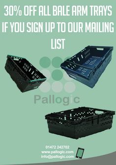 Sign up to our mailing list for this week's eshot and 30% off bale arm trays! http://eepurl.com/b03w7D