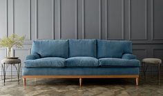 Can't get enough of our blue velvet Sutton sofa from the One Kings Lane Collection.