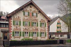 Обераммергау росписная деревушка Бовария