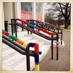 Knit the Brooks, Memphis, Tenn. (yarn bombed museum)
