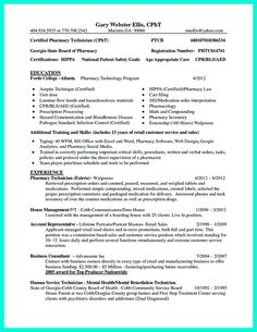 Certified Pharmacy Technician Resume Sample | Resume Examples ...