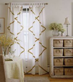 Dress up curtains and blinds with ribbon