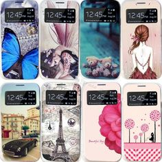 22 Styles Painting Case For Samsung Galaxy S4 SIV i9500 For Samsung GalaxyS4 S IV Cases Cell Phone Shell Leather Flip Cover