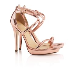 H and m rose gold shoes