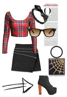 """""""Black widow !"""" by invisible9988 ❤ liked on Polyvore featuring Yves Saint Laurent, Jeffrey Campbell, Wet Seal, Ray-Ban, Charlotte Olympia, polyvoreeditorial, PolyvoreWishlist, yoinscollection and justlivedesign"""