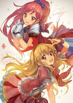 Aikatsu!, Seira & Ichigo, by lm7 (op-center)