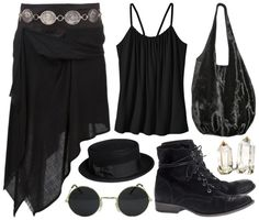 Gothic Bohemian outfit                                                                                                                                                                                 Más
