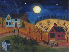 It is signed, titled and editioned on the back by myself. This piece will be a great addition to any art collection. Autumn Painting, Autumn Art, Painting Tips, Grandma Moses, Halloween Art, Halloween Painting, Halloween Prints, Halloween Projects, Country Art