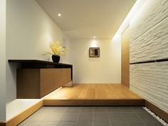 Trendy home plans contemporary spaces Japanese Home Design, Japanese Style House, Japanese Interior, Modern Interior, Interior Architecture, Interior Design, Tv Wand, House Entrance, Trendy Home