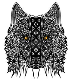 60 Awesome wolf tattoos + more about the meaning of wolves. Designs include tribal and howling wolves, wolf head and paw tattoos. Celtic Wolf Tattoo, Wolf Tattoo Back, Celtic Dragon Tattoos, Small Wolf Tattoo, Wolf Tattoo Sleeve, Wolf Tattoos, Lion Tattoo, Skull Tattoos, Arm Tattoo