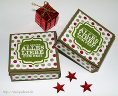 Ritter Sport chocolate boxes featuring Stampin' Up! Bracket Label punch #StampinUp
