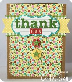 C-u-t-e, clean card by Kimber! Supplies from April's The Card Kitchen kit from Jillibean.