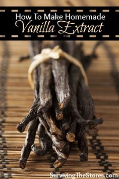 How to make homemade vanilla extract. This recipe can use brandy OR vodka and gives the final results on the difference!