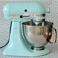 Not exactly decorating, but I really want this duck egg blue Kitchen aid!