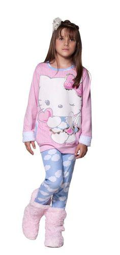 Linha Angel - Pijamas Hello Kitty Lua Luá