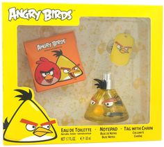 air-val international - angry birds - yellow (3 pc gift set)