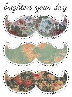 Floral Mustache #hipster #vintage