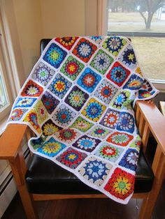 Blanket made with little circle square