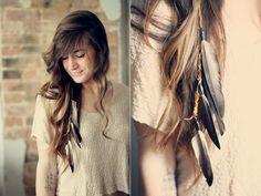 El Estilo De Su Cabello Con El Pelo Con Plumas // #cabello #estilo #pelo #Plumas