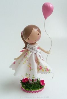 Happy Birthday! Clothespin Doll