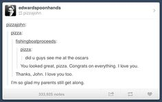 This is the most beautiful tumblr post in the whole wide everything. For those of you who don't know, fishingboatproceeds is the URL of John Green and edwardspoonhands is Hank Green.