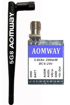 Aomway Mini 5.8Ghz 200mW 23DB Wireless AV Transmission Module Transmitter TX