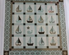 Cape Cod Baby Quilt Pattern By Bunny Hill Sailboats Whale Nautical Ann Sutton
