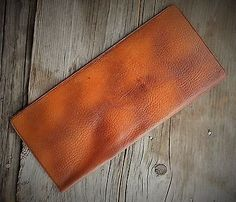 Listed on eBay week of 12/25/14 starting at $9.99 Vintage-1940s-Leather-Cowhide-Document-Wallet-Passport-Travel-Holder-NR